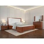 Двоспальне ліжко Арбор Древ Амбер з підйомним механізмом 160х200 бук (ADB160)