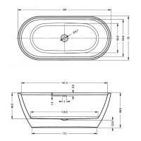 Ванна Riho Inspire 160x75 см (BD10005)