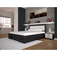 Односпальне ліжко ТИС Кармен з підйомним механізмом 140x200 дуб (TYS204)