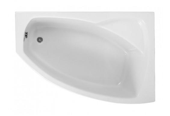 Ванна Polimat Frida асиметрична 150х100, R + ніжки (00975)