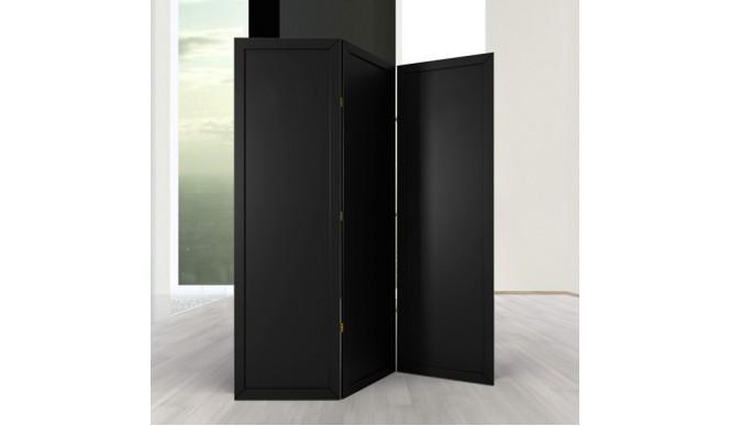 Ширма ДекоДім Економ на 3 секції 120х200 см, чорна (EBL-7)