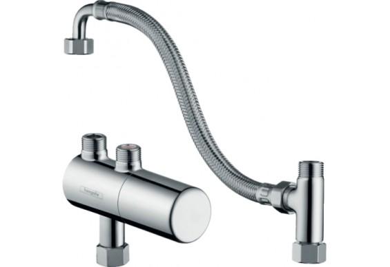 Термостатичний змішувач для душу Hansgrohe Ecostat з можливістю термічної дезінфекції, хром (15346000)