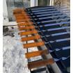 Мангал Сталевар на 12 шампурів товщиною 3 мм з підставкою для дров (STV-9)